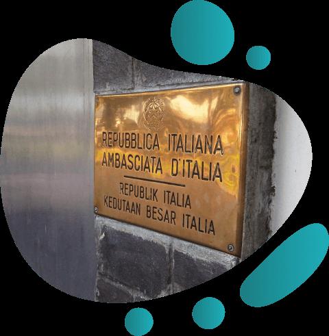 Legalisasi di Kedutaan Italia